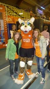Bezoek aan Nederlands dames team